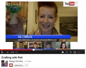 Google+ Hangout Crafting with Felt