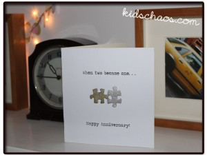 Puzzle piece wedding or anniversary card