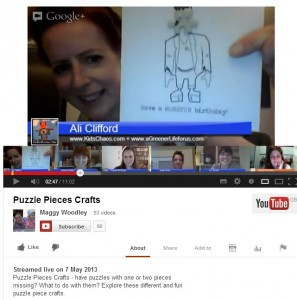 google+ hangout with redtedart