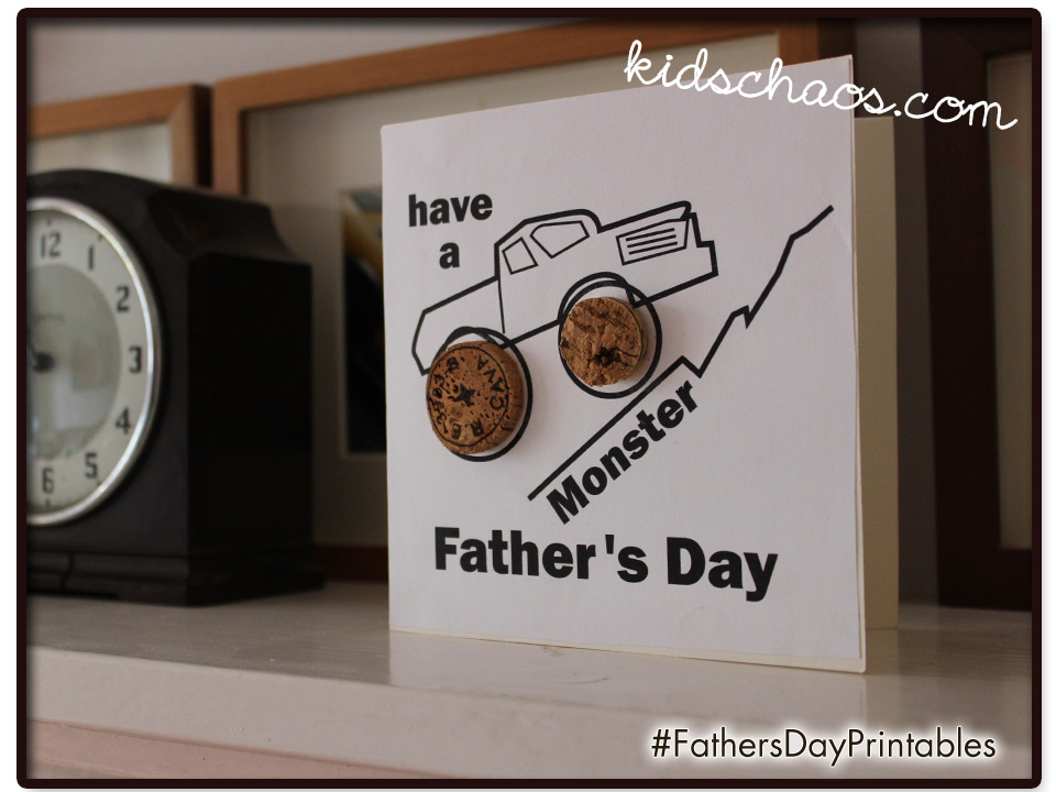 KidsChaosCork-FathersDay-Card-craft