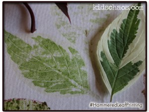 Hammered Leaf flower print