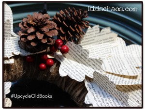 KidsChaos-book-paper-wreath-recycle