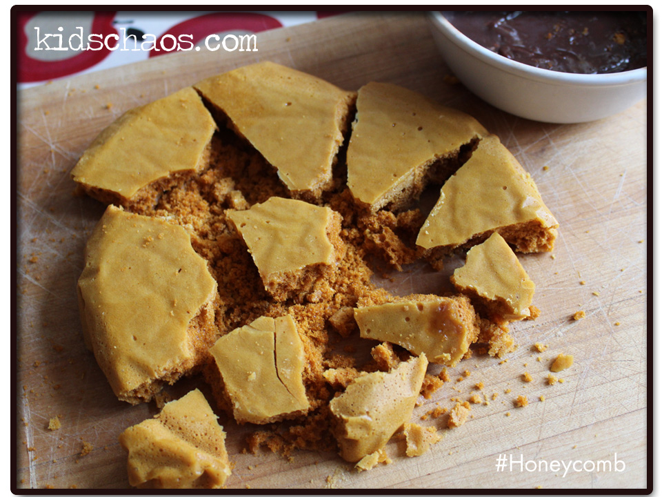 honeycomb recipe with chocolate fondue