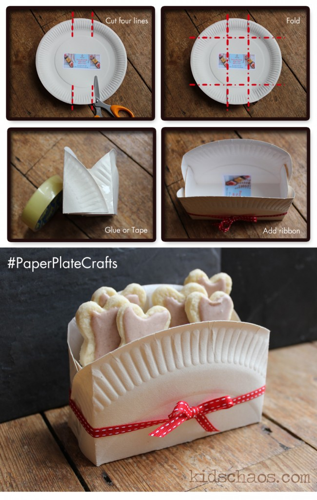 paper plate craft biscuit box