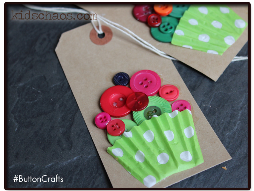 Button Crafts Cupcake tags