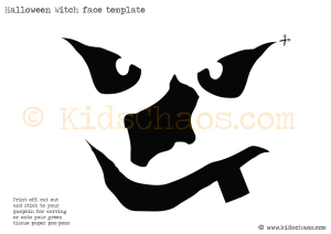 halloween witch face template