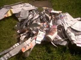 KidsChaos PaperMache newspaper age 7