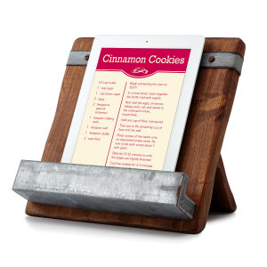 cookbook iPad holder
