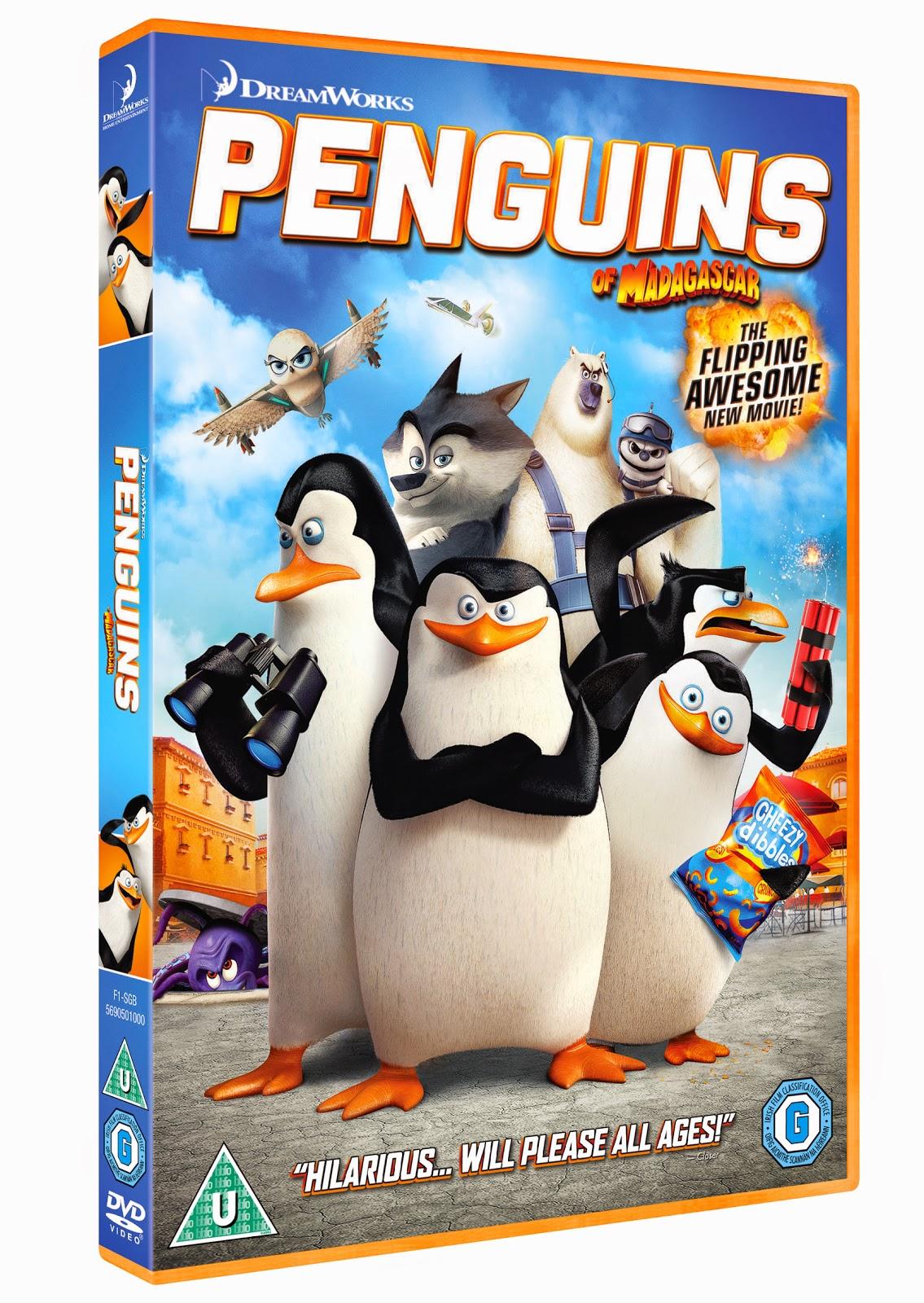 Penguins of MADAGASCAR DVD kidschaos