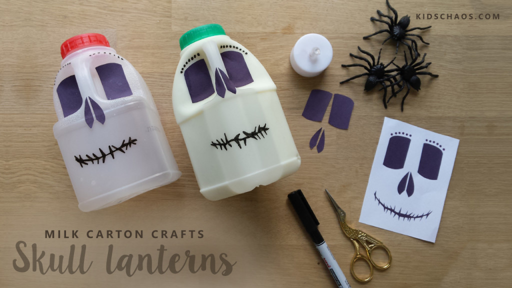 Milk Carton Skull Lanterns