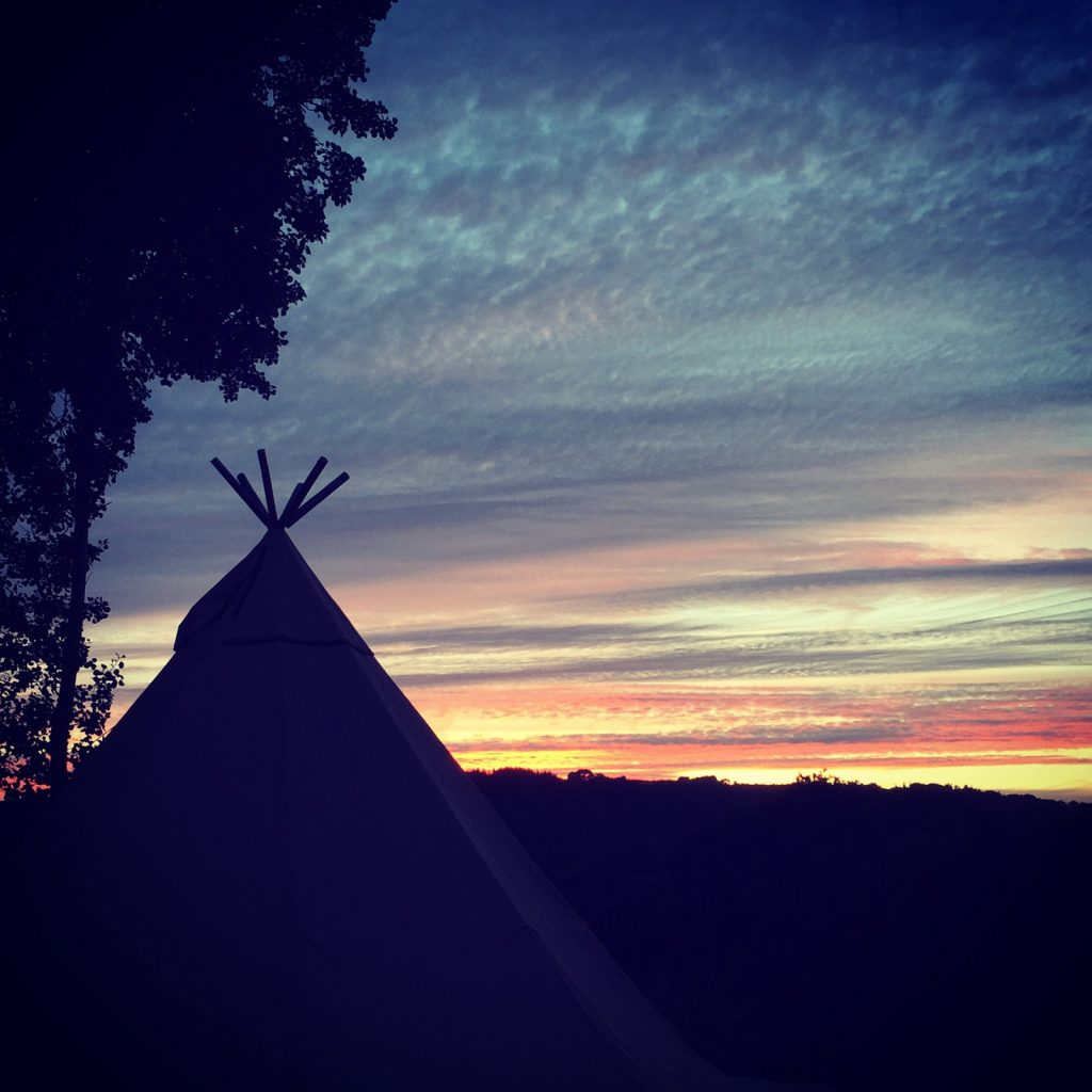 Sunset over the Tipi