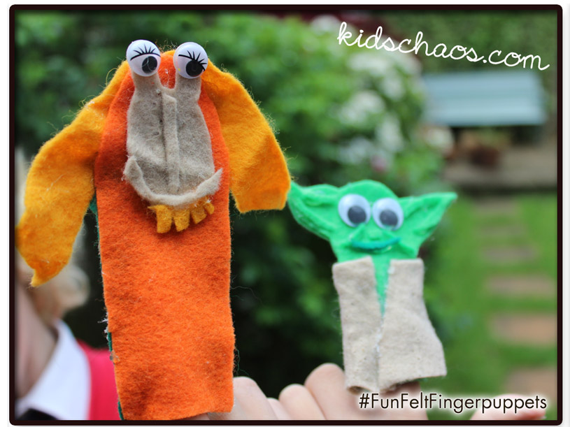 Felt Finger Puppets Yoda and Jar Jar Binks