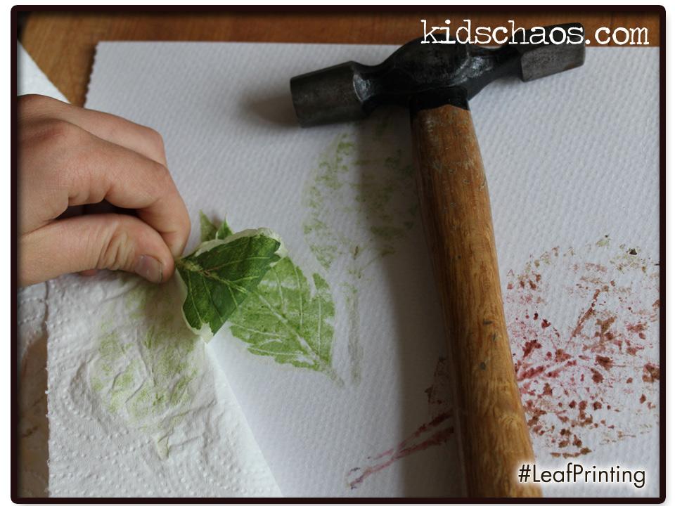 Natural Hammered Leaf Printing Kidschaos Com