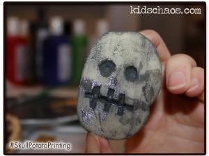 Potato print skull