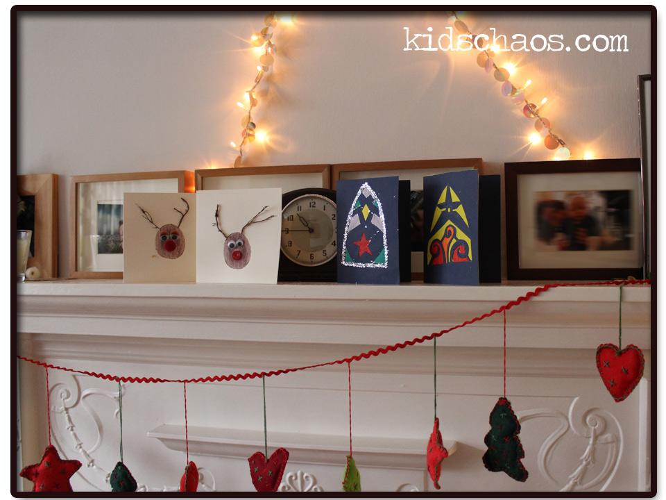 KidsChaos_ChristmasCardsMantle