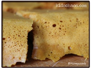 KidsChaos honeycomb recipe closeup