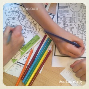 pho restaurant colouring in