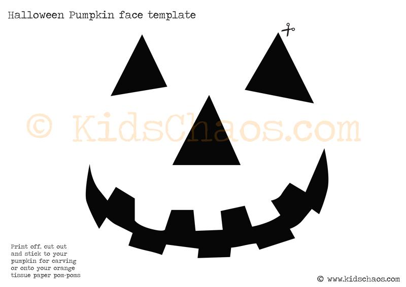 halloween pumpkin face template kids chaos kidschaos com
