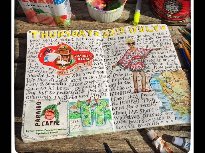 Jennie Maizels sketchbook spread 3