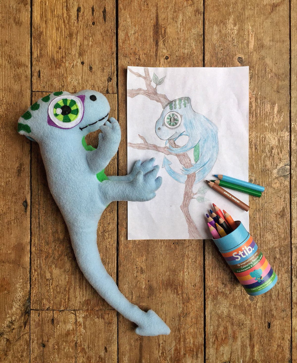 KidsChaos-PetPlan-Lizard-photo-with-pencils
